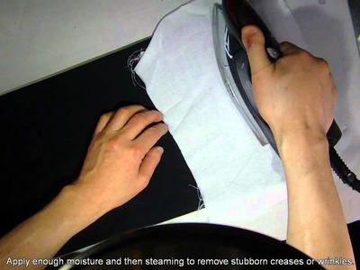 How to remove stubborn creases or wrinkles.