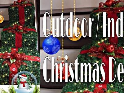 LAST MINUTE OUTDOOR. INDOOR CHRISTMAS DECOR