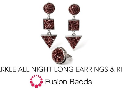Learn how to create the Sparkle All Night Earring and Ring Set by Fusion Beads