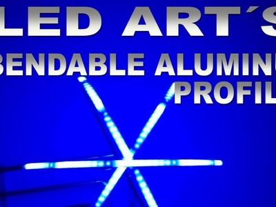 LED Art WS2813 do it yourself Project Bendable Aluminum Profile Wifi controlled
