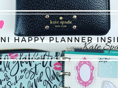 Mini Happy Planner Inside KATE SPADE Planner | How to De-ringing the planner | At Home With Quita