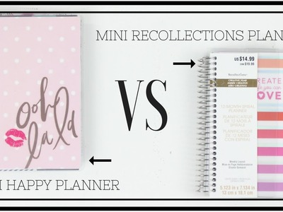 Mini Happy Planner VS Mini Recollections Planner | At Home With Quita
