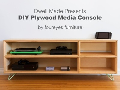 Modern DIY Plywood Media Console from   A Dwell Made Project