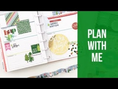Plan With Me: December 18-24, 2017 [Create 365 mini Happy Planner® stickers How To]