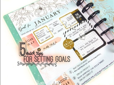 Planner Goal Setting | 5 Quick Tips for How to Set Goals Using a Happy Planner in 2018