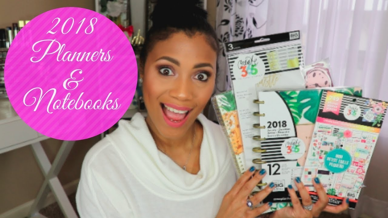 Planners & Notebooks Haul For 2018  Happy Planner, TJ Maxx & More