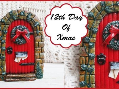 Polymer Clay Christmas Red Door    Maive Ferrando