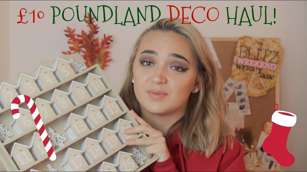 POUNDLAND CHRISTMAS DECORATIONS 2017 | £10 BUDGET | 12 Days of Christmas 2017