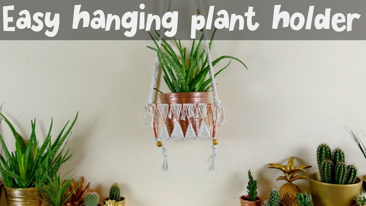 REALLY easy to make Macrame style hanging planter