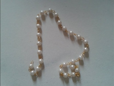 Simple diy jewellery chain - loreal pearl link chain at home