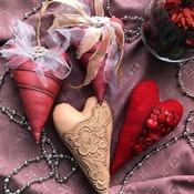 Текстильные украшения для дома.Милый подарок