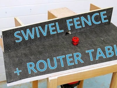 The simplest router table, with swivelling fence and lift