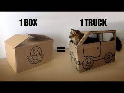 Transform a Box into a Fun Cat Truck