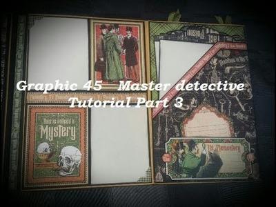 Tutorial *3  Mini Album Master Detective Graphic 45 ( DT-CCC )
