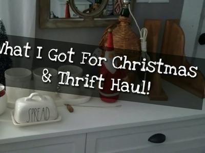 What I Got for Christmas & Thrift Haul!