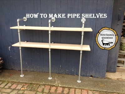 Woodworking : Custom DIY Shelves. Pipe Shelves. How-To