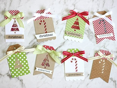 WOW Embossing : Sparkle Christmas Gift Tags