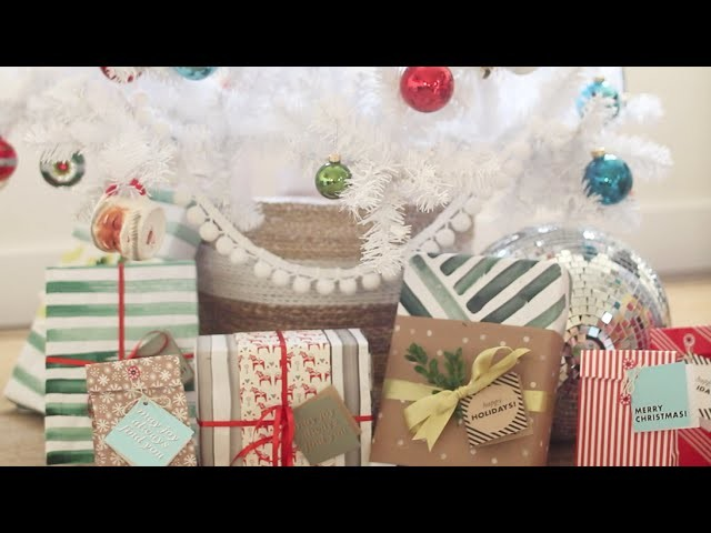 Wrap it up! gift tags & water color gift wrap