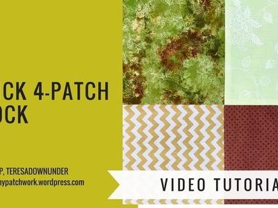2 minute video tutorial: Quick 4-patch quilt block