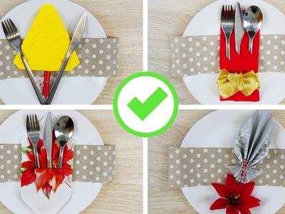 5 Modi per Piegare i Tovaglioli nelle Feste! - 5 Napkin Folding Hacks for Holidays!