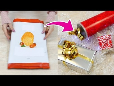 5 Pacchi regalo con materiale da Riciclo! - 5 recycle haks to make gift boxes!