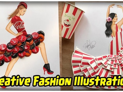 Artist Uses Everyday Objects To Make Fashion Illustration - Creative Fashion Illustration 2017 - #2