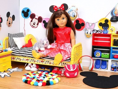 Baby Doll Bedroom for Mickey Mouse! Play dress up Minnie Mouse Disney & Mickey Ears Disneyland