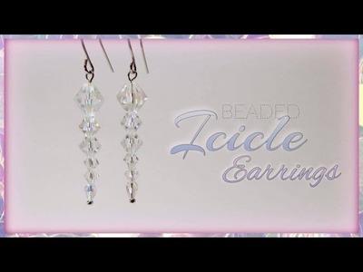 Beaded Icicle Earrings