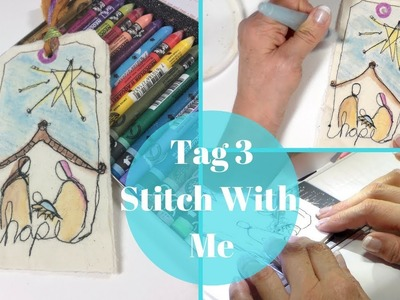 Create a Tag with Free Motion Stitching and Neo Color II by Stitches by Julia