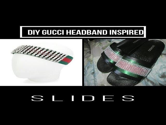 43c52bfec4c DIY GUCCI DIAMOND SLIDES