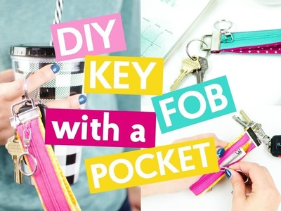 DIY KEY FOB WITH A ZIPPER COMPARTMENT
