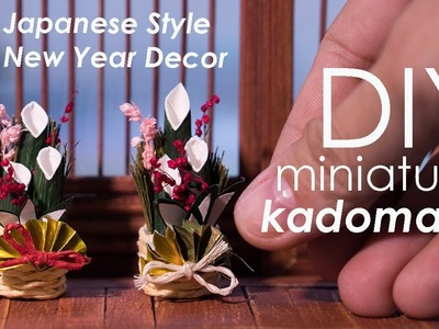 DIY Miniature Kadomatsu Tutorial - Japanese Style New Year Decor