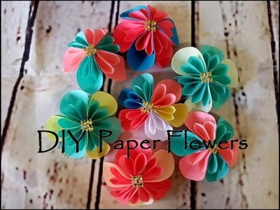 DIY Paper Flower origami | Paper flower wall decoration