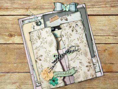 """Everlasting Bundle"" How to Build & Embellish a Mini Album Page ""Part 4"""