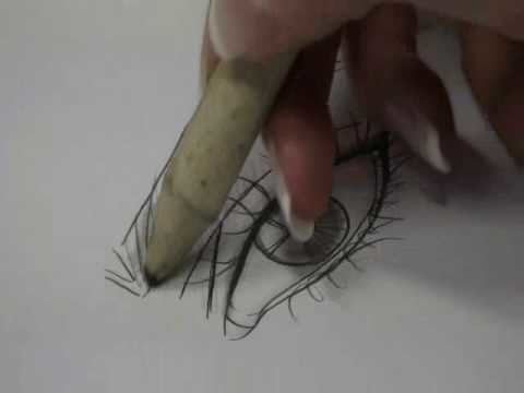 Fashion Design Drawing Lesson: Shadeout of an Eye