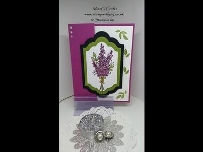 Fun fold thank you card using Lot's of Lavender SU