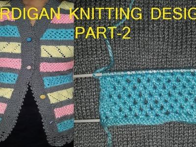 Handwork.Hand Knitted Cardigan Design(Part-2)#56