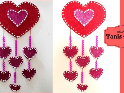 Hanging hearts decorations | Large heart wall hanging | Heart shaped decorations to make