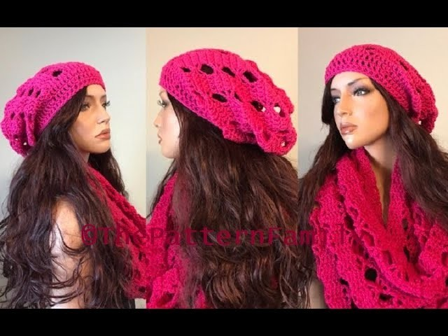 How to Crochet Tiny Bows Slouchy Hat Pattern #195│by ThePatternFamily