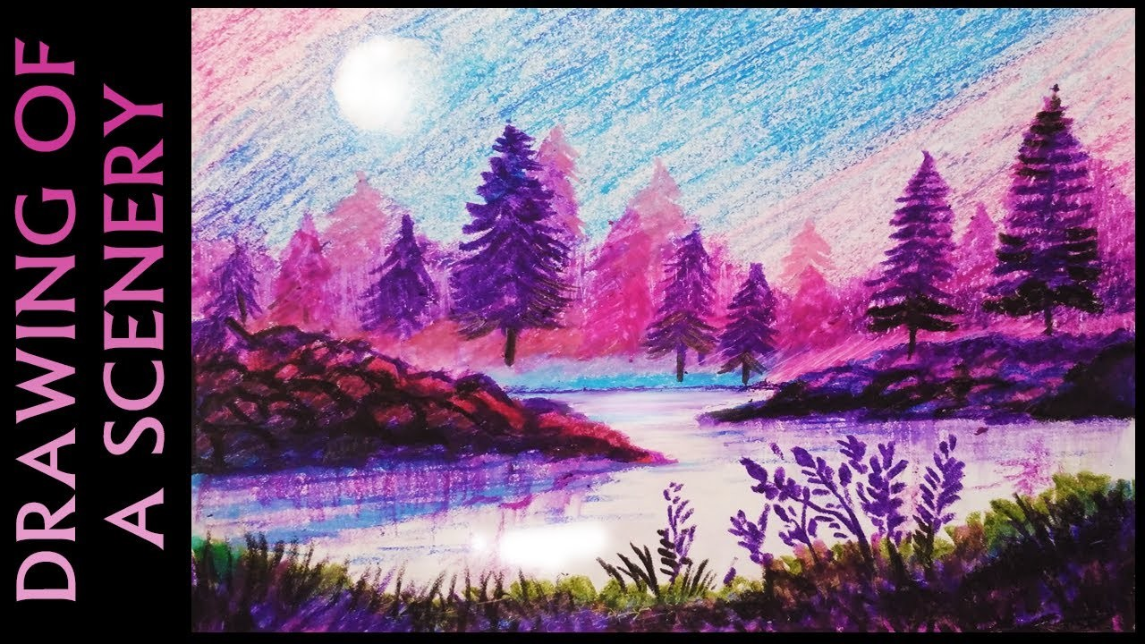 How To Draw A Beautiful Night Sky With Oil Pastels