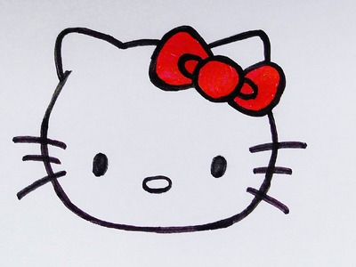 How to draw a Hello Kitty face - ArtPedia