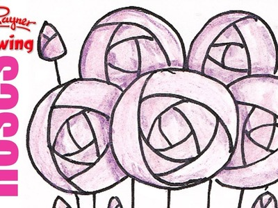 How to draw Art Deco Roses