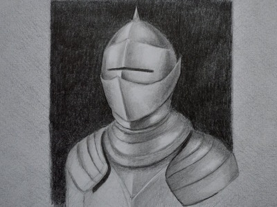 How to Draw Metal: Drawing an Armor - Fine Art-Tips