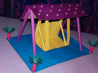 How to make a colour paper Beautiful Swing.DIY Beautiful Swing Tutorial.Paper Crafts for Gift