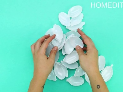 How To Make A Decorative Mirror With Plastic Spoons