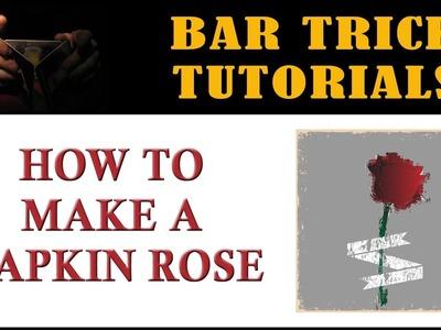 How to Make a Napkin Rose | Paper Napkin Folding Rose Tutorial