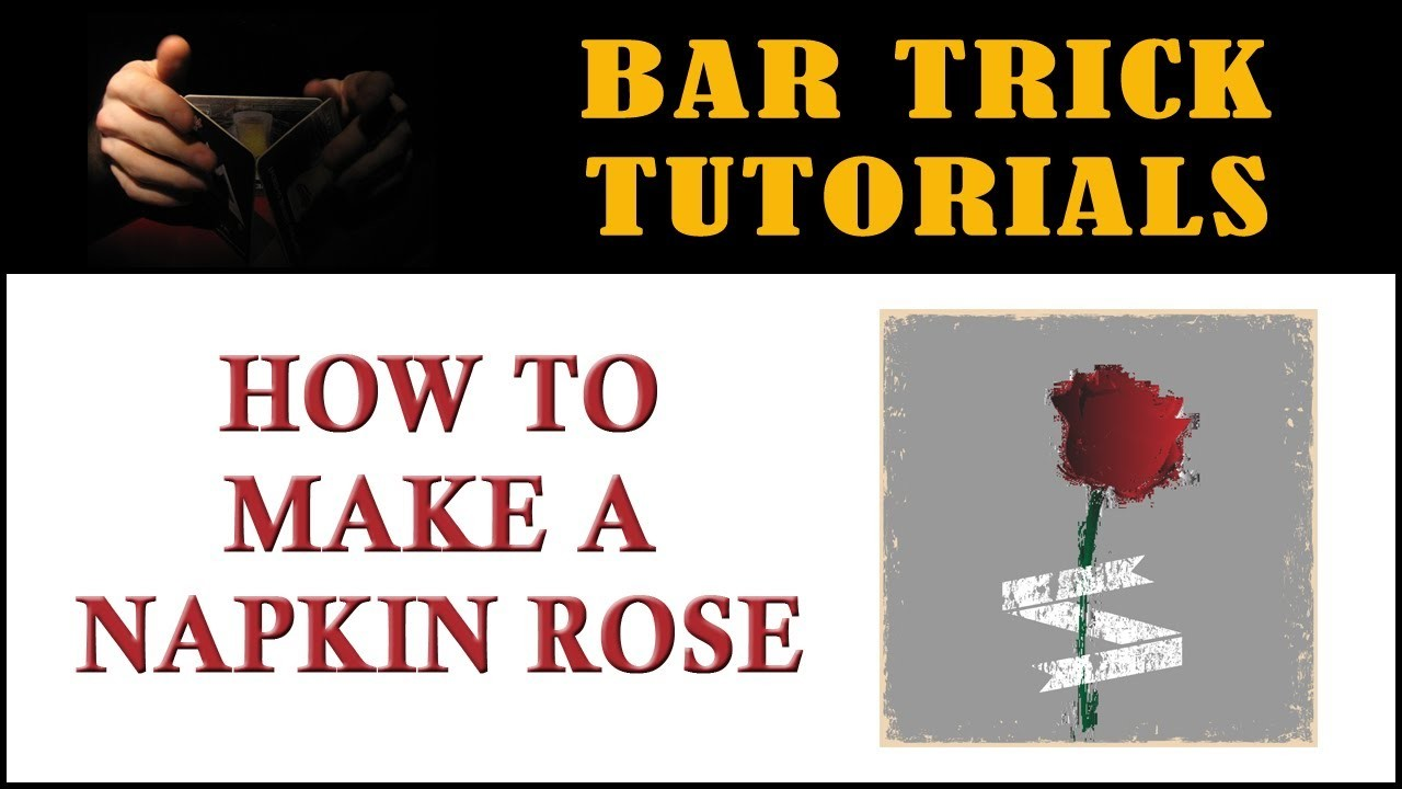 How to Make a Napkin Rose | Paper Napkin Folding Rose Tutorial