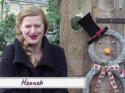 How to make a Snowman Wreath with Hannah Read-Baldrey & HobbyCraft