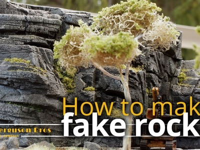 How to make realistic lightweight fake rocks