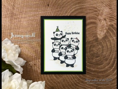 How to mask an image using Stampin Up products with Jenny Hall